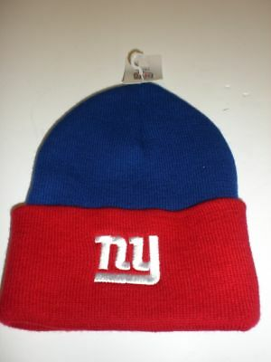 York Giants Red/blue Stocking Hat Off. Licensed