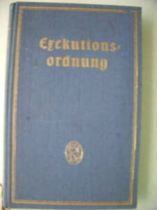 Exekutionsordnung-1932-Gesetze-Verordnungen-Osterreich