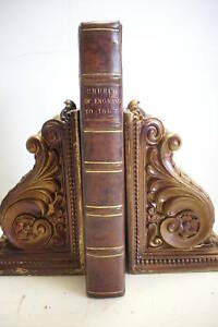 1674-HISTORY-OF-THE-CHURCH-OF-GREAT-BRITAIN-Bishops-Monks-Cardinals-Leather-VG