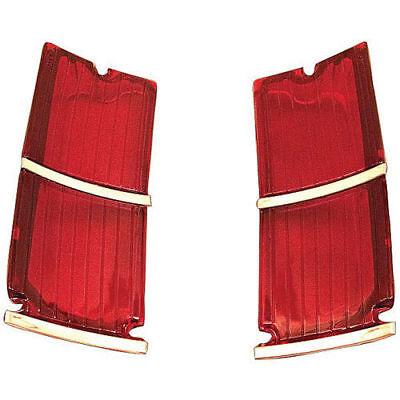 66 El Camino Tail Light Lenses Gm Restoration Parts Top Quality Lens Pair