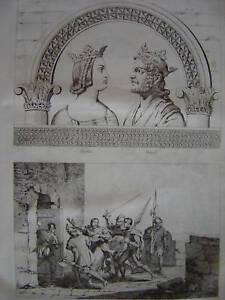Gravure Berthe Raoul Emprisonnement CHARLES Le Simple - France - Période: XIXme et avant - France