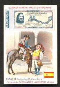 Espana-Spain-Banknote-Money-Donkey-Flag-ca-1899