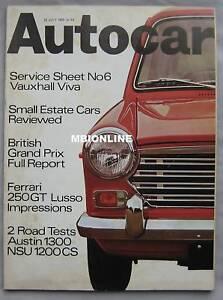 Autocar-magazine-24-7-1969-featuring-Ferrari-250GT-Austin-NSU-road-test