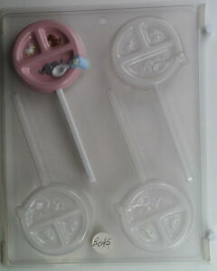baby dish lollipop chocolate candy mold molds baby shower party favor