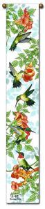 40-034-HUMMINGBIRDS-Bird-Bell-Pull-Tapestry-Wall-Hanging