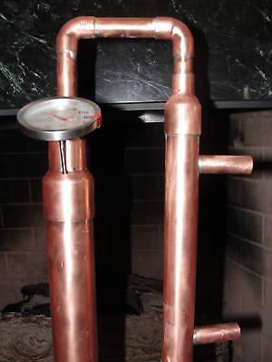 Copper Alcohol Moonshine Ethanol Still E-85 Reflux 5 Gallon Stainless Boiler