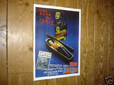 Sex Pistols Johnny Rotten Sid Vicious GraveRepro POSTER