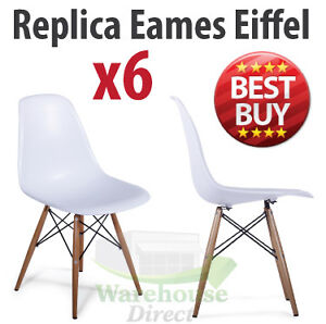 6 x Retro Replica Eames Modern Dining Furniture Chair