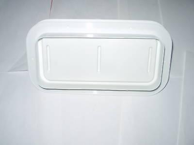 White Two Way Plastic Vent W Trim Ring Trailer Camper Ebay