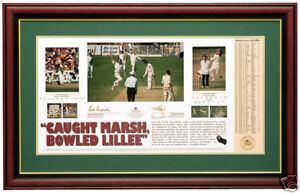 DENNIS LILLEE  ROD MARSH  CAUGHT MARSH BOWLED LILLEE