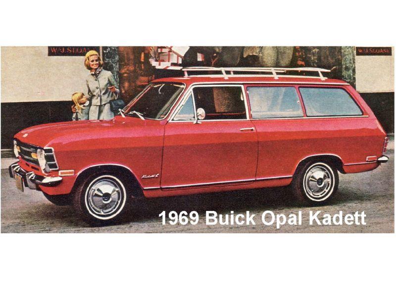 1969 Buick Opal Novelty Refrigerator Magnet
