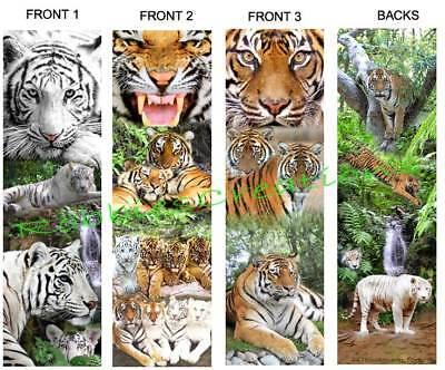 3-tiger Bookmark Jungle Animal Art Big White Tigers Cat Card Figurine Ornament