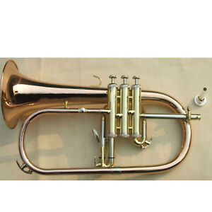advanced-red-brass-Phosphor-Bronze-Bb-Flugelhorn-outfit-cupronickel-tuning-pipe