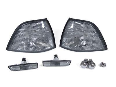 Depo 97-99 Bmw E36 2d/convertible Smoke Corner+side Marker Light +chrome Bulb M3