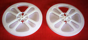 2-NEW-8mm-REGULAR-8-400-EMPTY-PLASTIC-REELS-WHITE