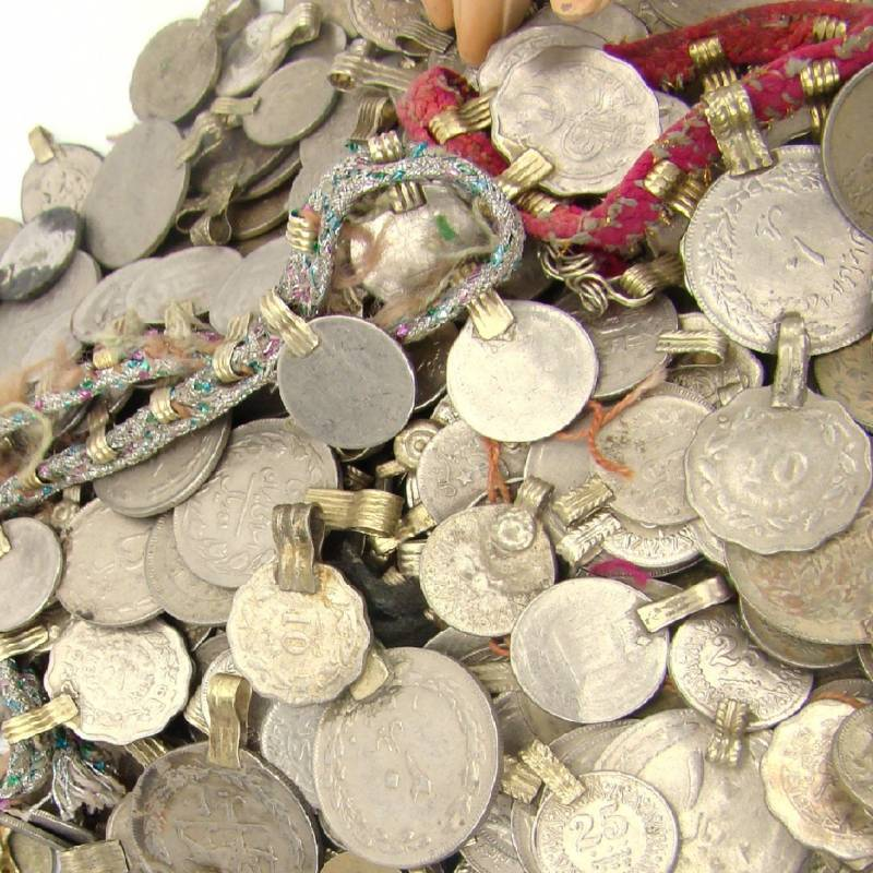 Tribal 500 real COINS BellyDance Belly Dance Tribe Kuchi MIXED