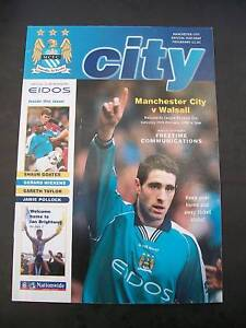 Programme, Manchester City v Walsall, 26.02.2000
