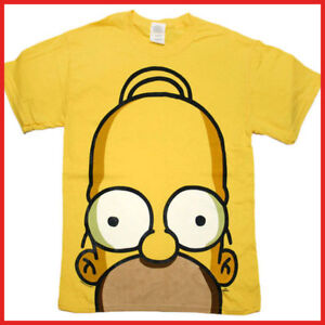 Simpson family homer t shirts big face men size tee 5 size for Simpsons t shirts online