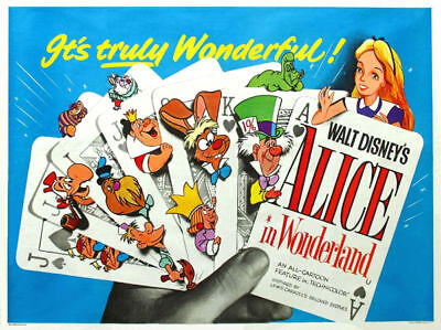 Alice in Wonderland Disney cult cartoon movie poster print #3 on Rummage