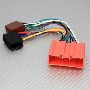 mazda car stereo iso wiring harness connector loom ebay