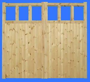 Timber garage doors 39 shepton 39 7 39 x 7 39 ebay for 11 x 7 garage door