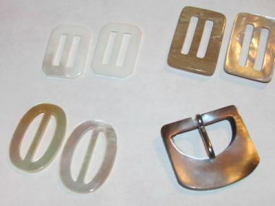 Mother Of Pearl Belt Buckle s & Or Slides 4 STYLES AA++
