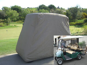 4-Passengers-Golf-Cart-Cover-Fit-EZ-Go-Club-Car-Yamaha-Cart-Taupe