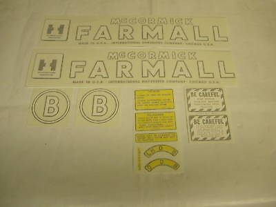 Ihc Farmall Model B Tractor Decal Set Vinyl Cut New- Free Shipping