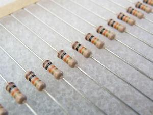 100-resistances-couche-carbone-1K6-1-4W-5-Philips-CR25