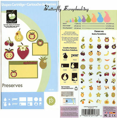 Preserves Cricut Cartridge Die Cutting Cartridge