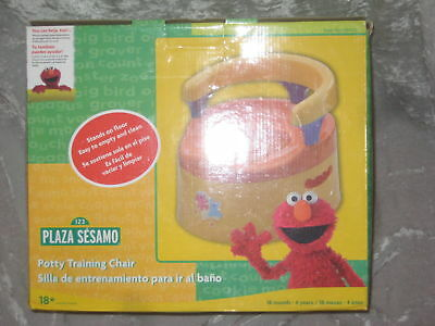 Sesame Street Potty Training Chair Elmo Cookie Monster NEW!