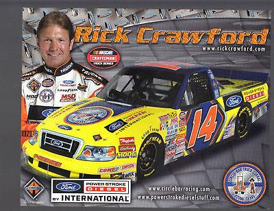 2008-RICK-CRAWFORD-034-CIRCLE-BAR-TRUCK-CORRAL-034-14-NASCAR-CTS-POSTCARD