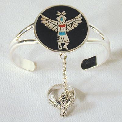 Dancing Warrior Slave Bracelet 81 Cuff Ring Bird Women Jewelry