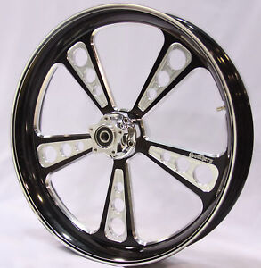 BLACK-CONTRAST-BILLET-23-x-3-75-FRONT-WHEEL-HARLEY-TOURING