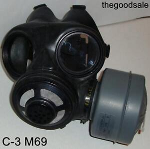 NEW-Canadian-C-3-M69-Gas-Mask-One-60mm-SEALED-NBC-Filter-Canister-Size-LARGE