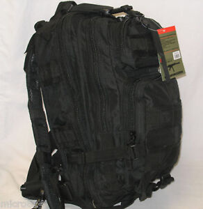 Tactical 3-Day Molle Military Assault Medium Backpack Swat Black NEW