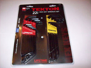 22pc-TEKTON-LONG-ARM-ALLEN-HEX-KEY-WRENCH-SET