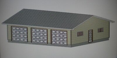 30' X 36' GARAGE SHOP PLANS MATERIALS LIST & BLUEPRINTS