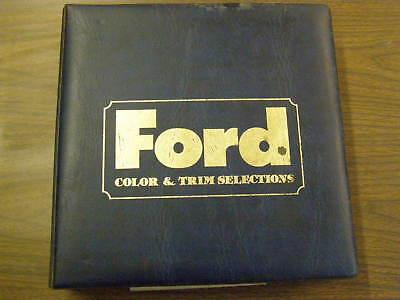 Ford Dealers Product Guide 1980 Model Dealer Trim Book