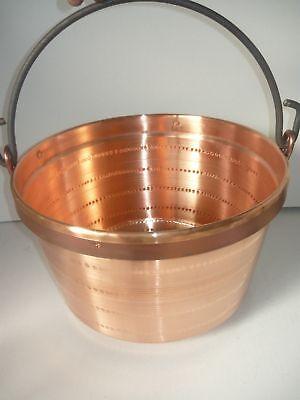 Pentola Paiolo Pasta POLENTA in Rame con Manico in ferro 26 cm CAMINO GAS