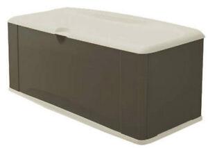 Gallon XL Deck Storage Box Rubbermaid Outdoor Bench Seat Chest | eBay