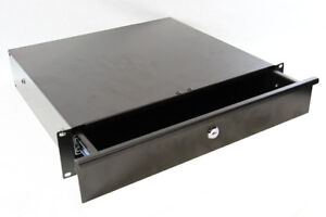 2U Black Lockable Drawer 19