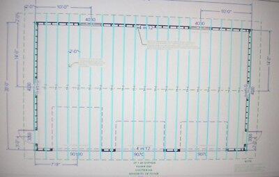 28 x 40 garage shop plans materials list blueprints plan 1049 for Garage material list