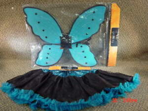 NWT Costume Butterfly Wings Fairy Tutu Blue 2pc Lamay cute Fun Halloween outfit