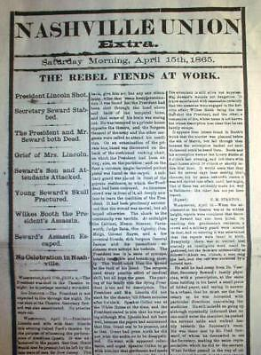 15 Best April 1865 Newspapers Abraham Lincoln Shot Dead