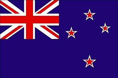 New Zealand 5ft x 3ft Flag Oceania Kiwi - 2 Metal Eyelets