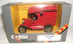 Corgi 865/3 Ford Model T Van KALAMAZOO FIRE DEPT MB