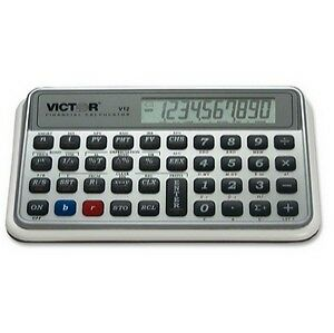 Programmable Financial Calculator 10-Digit LCD Victor V12 Business/Scientific