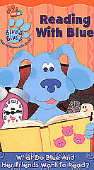 blues clues reading with blue vhs 2002 ebay
