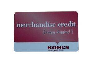 KOHLS-MERCHANDISE-CREDIT-GIFT-CARD-74-17-VALIDATED-VALUE-NEVER-EXPIRES